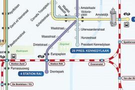 'Trek tramlijn door van station Zuid naar Amstel'