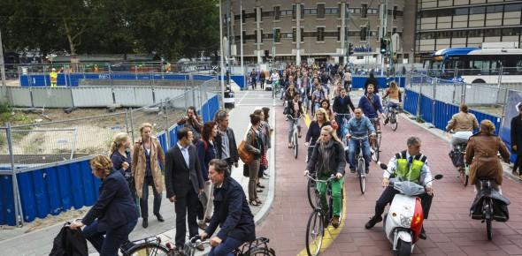 Stem trein af op de fiets