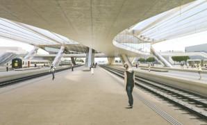 Het nieuwe station van Kortrijk