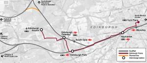 Kaartje tram Edinburgh