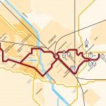 UTR 383 traceskaart