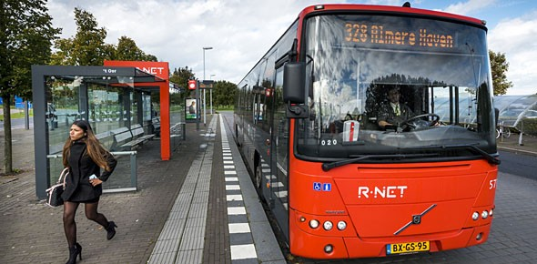 Rood van R-net rukt op in de Randstad