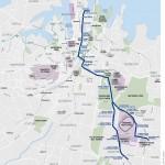 w-Sydney tramlijn tussen Circular Quay en South East