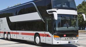 IC Bus rijdt door naar Londen