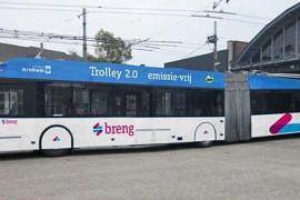 Trolleynet Arnhem moet auto's opladen