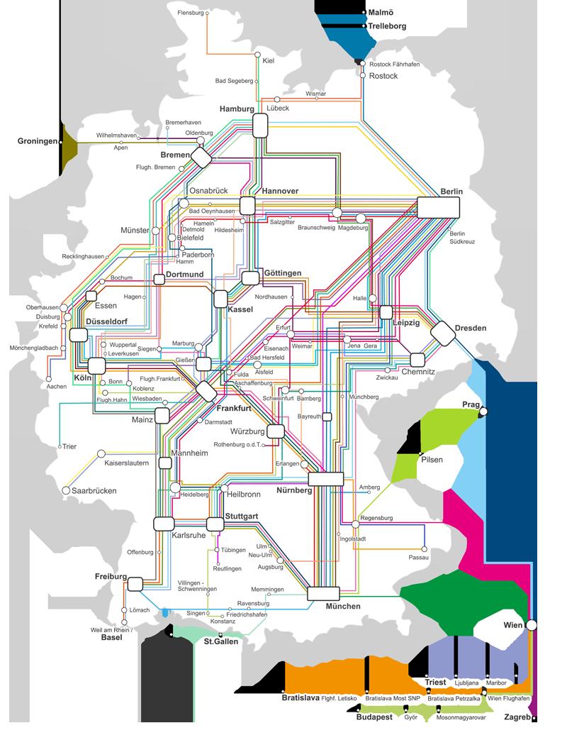 Het lijnennet van Flixbus