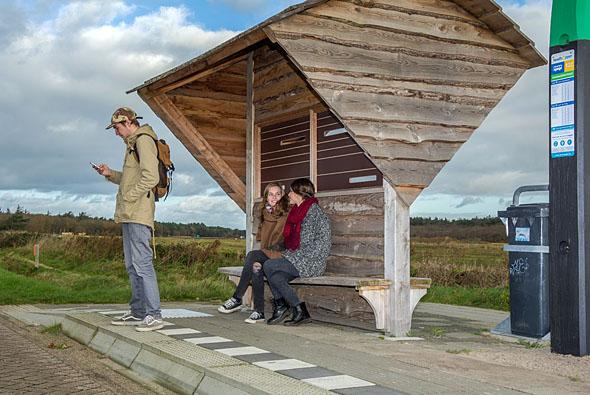 Een van de 150 plaatsen op het eiland waar de Texelhopper stopt.