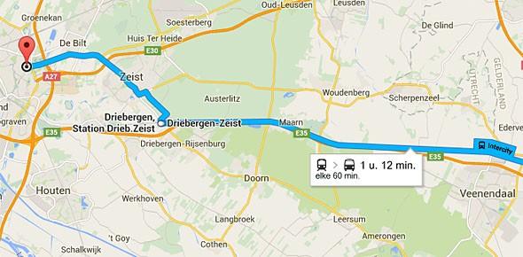 Nu ook actuele reisinfo in Google Maps