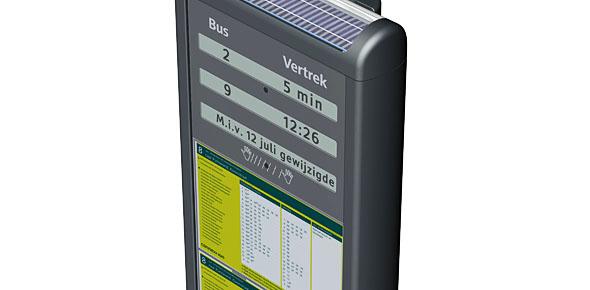 Displays met actuele info én stoplamp