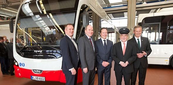 Eerste gelede e-bus van VDL in Keulen
