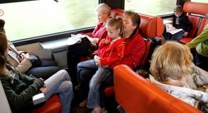 De lucht van friet in de trein