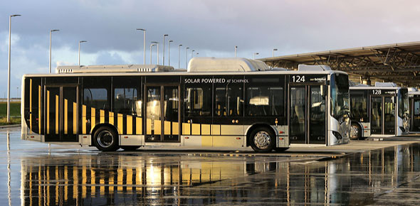 E-bussen Schiphol real time gemonitord