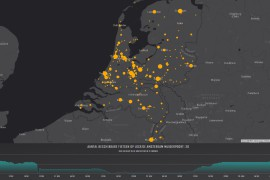 Beschikbaarheid OV-fiets live op de kaart