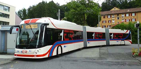 De nieuwe Hess-trolleybussen die door Hermes zijn besteld krijgen een modern uiterlijk. Trolley 2.0 moet een tramlook krijgen, zoals de dubbelgelede trolley uit Luzern.