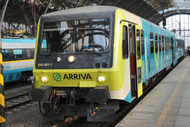 Arriva concurreert met trein rond Praag