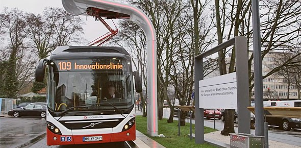 Busfabrikanten lanceren laad-standaard