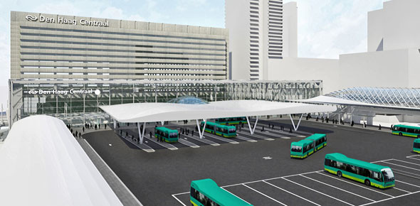 Den Haag krijgt busplatform in stijl