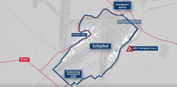 Rond Schiphol groeit het ov als kool
