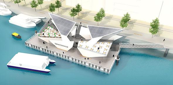 Waterhub als ov-poort van Rotterdam