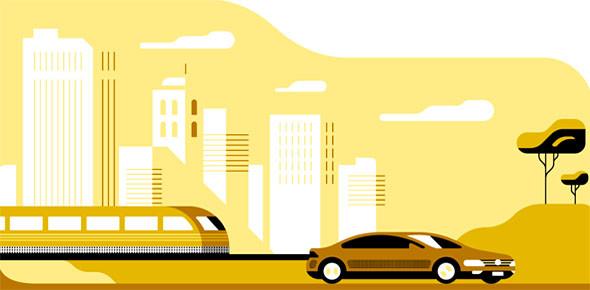 Goedkope Uber-taxi tijdens werk Schiphol