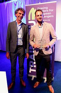 Helmut (links) en Lasse Brall wonnen tijdens de spoortop in juni een prijs voor HappyRail.