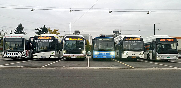 Bus- en batterijbouwers getest in Bonn