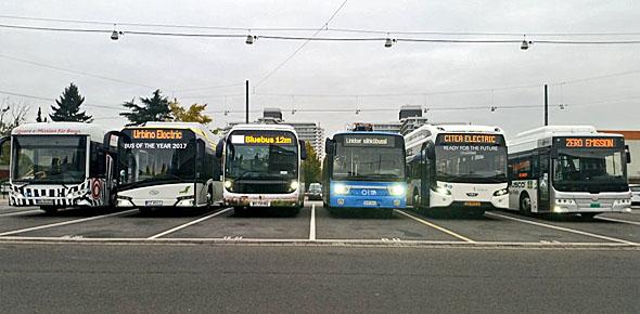 E-bus lijkt niet gevaarlijker dan dieselbus