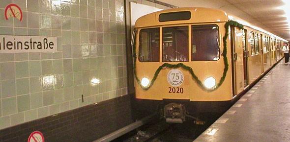 Berlijnse metro zet museumstellen in