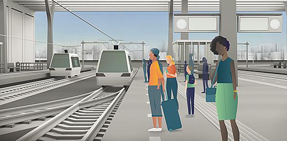 Elke minuut een trein, mogelijk in 2050