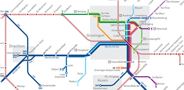 'Metrokaart' hov Noordoost-Nederland