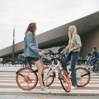 Chinese deelfietsen actief in Rotterdam