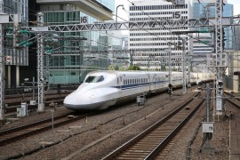 Per trein en tram door Japan
