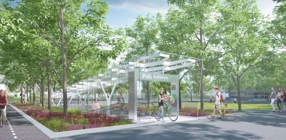 Nieuwe fietsparking bij Amsterdam Zuid