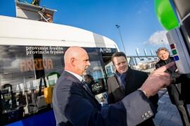 Elektrische bussen rondom Leeuwarden