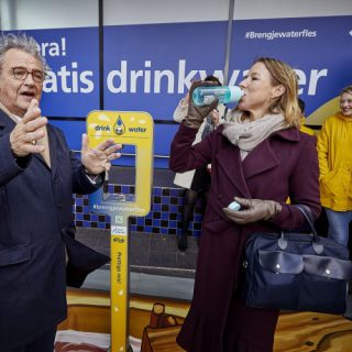 Gratis water op 20 stations Noord-Holland