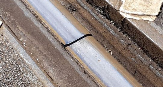 Foto's om defecten spoor te signaleren