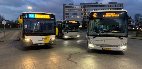 Bus over de grens op korte afstand stabiel